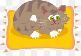 Kitten clipart cat sat. Cartoon png download free