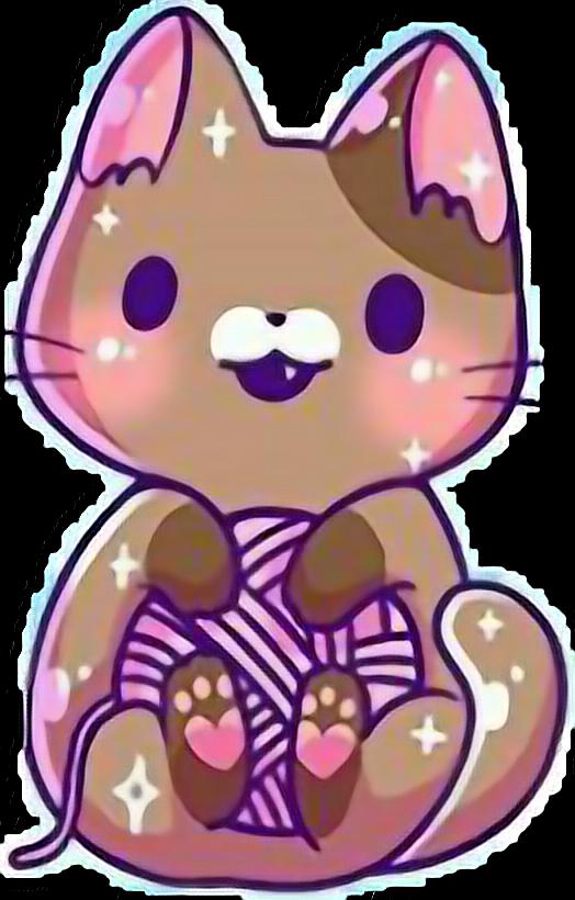 Kawaii cute cat kitten. Kittens clipart catl