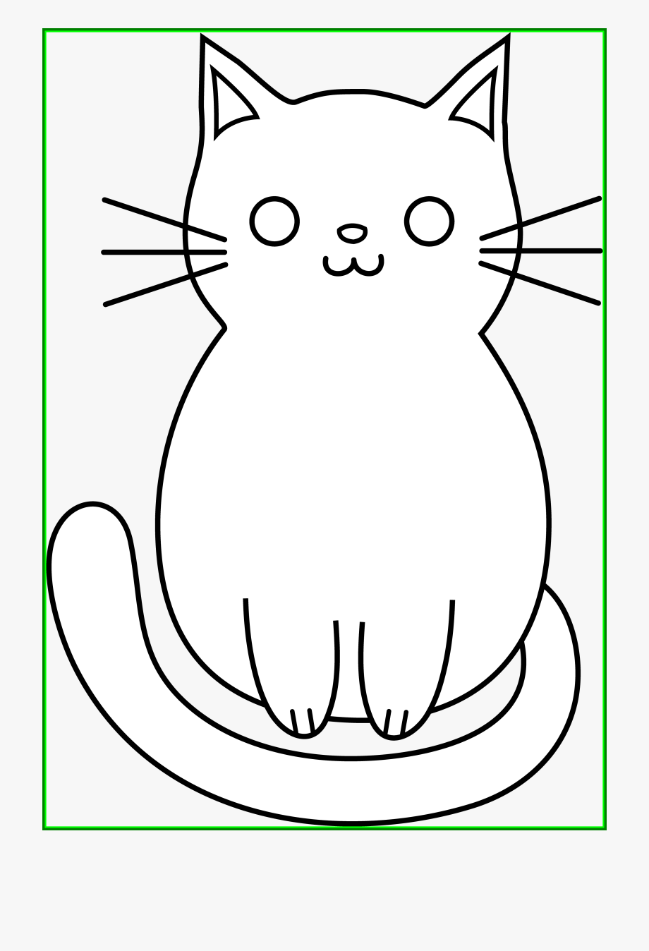 Kitten coloring page cute. Kitty clipart easy