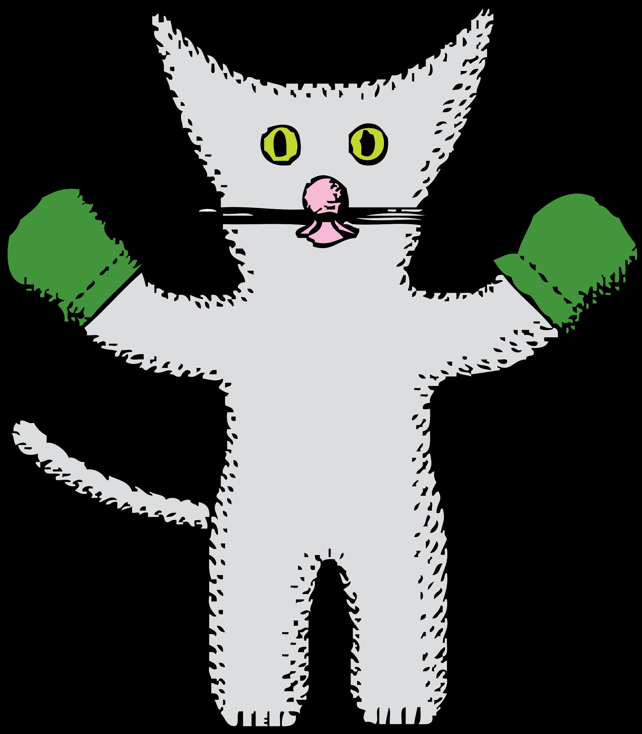 Kitten with jokingart com. Mittens clipart cartoon