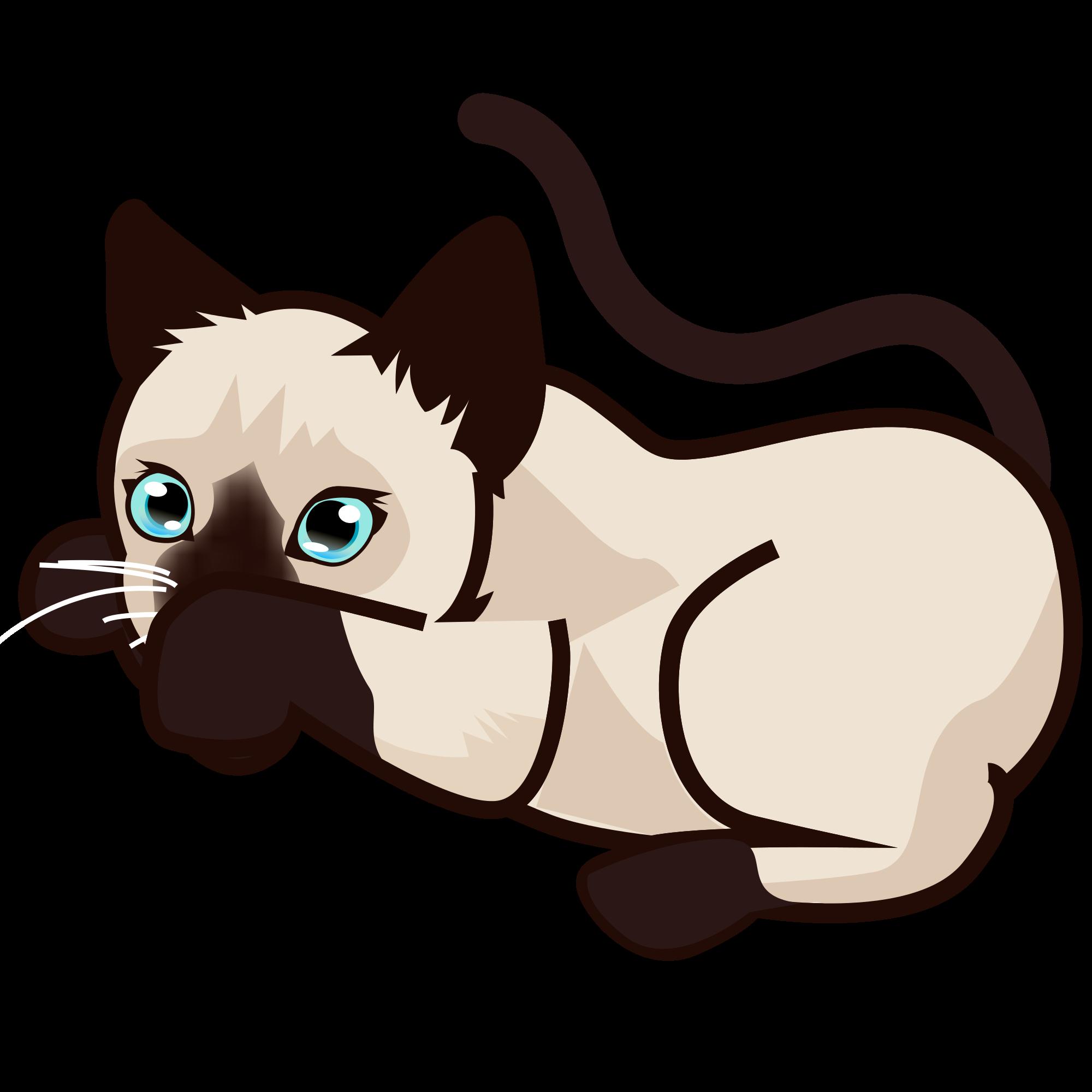 Kitten clipart file. Peo siamese svg wikimedia