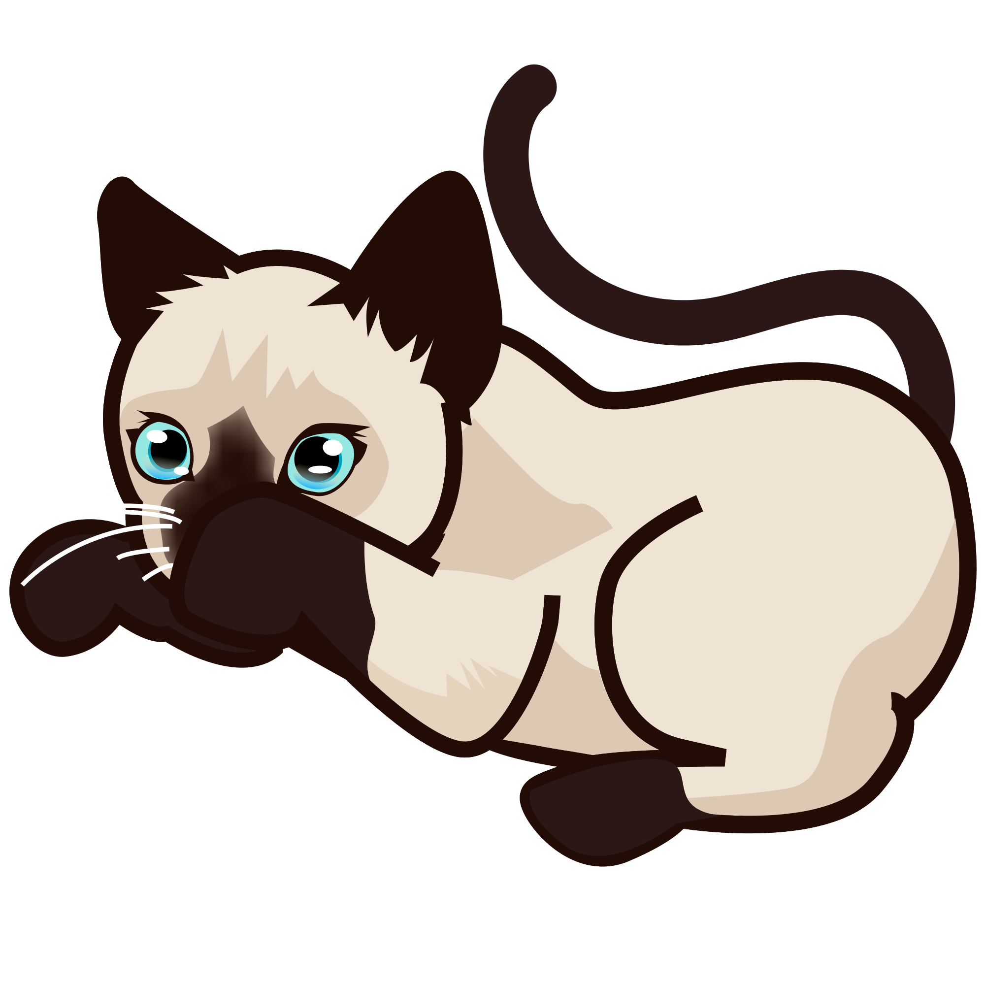 File peo siamese svg. Pet clipart kitten