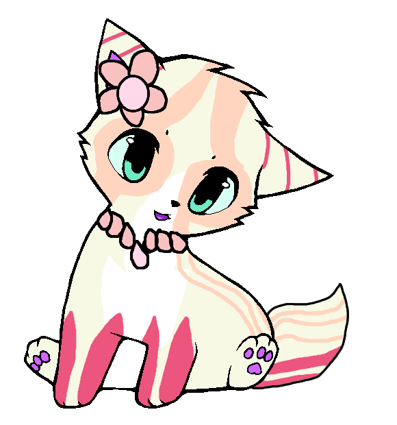 Lil sunny adopt open. Kitten clipart flower