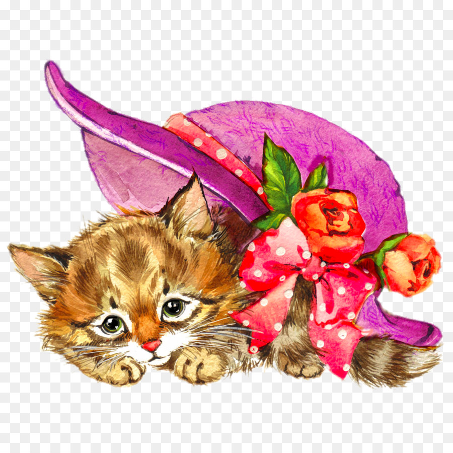 Flowers background png download. Kittens clipart flower