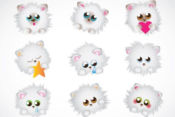 Clip art . Kittens clipart fluffy