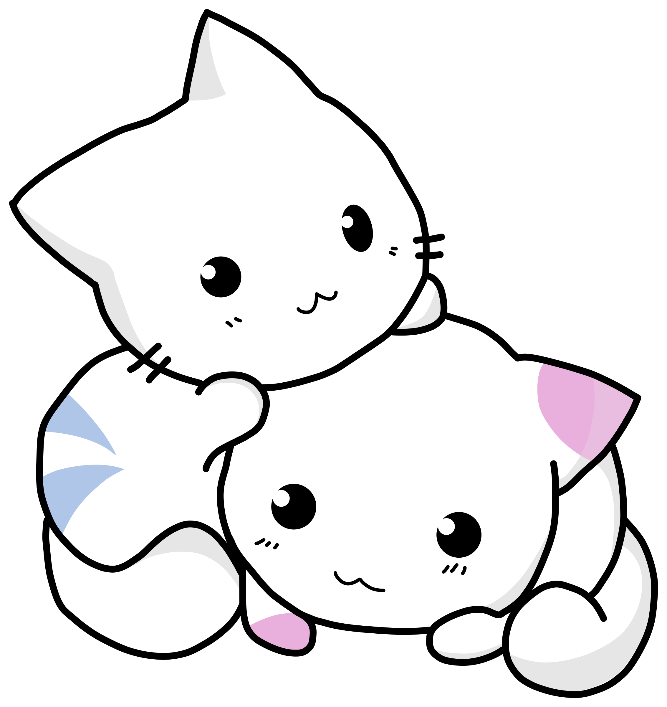 Cuty cats big image. Kittens clipart two