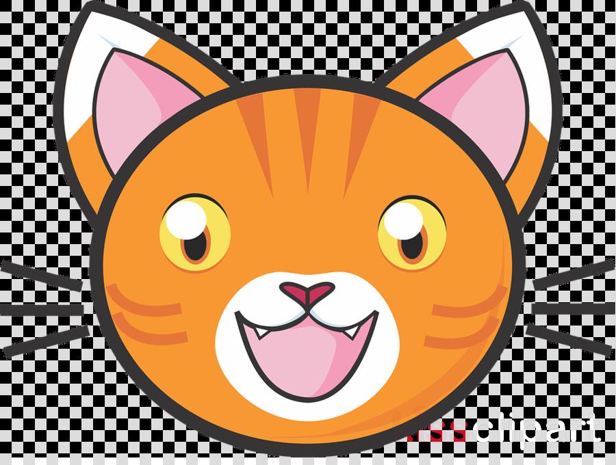 Cartoon cat transparent . Kitten clipart kitten head