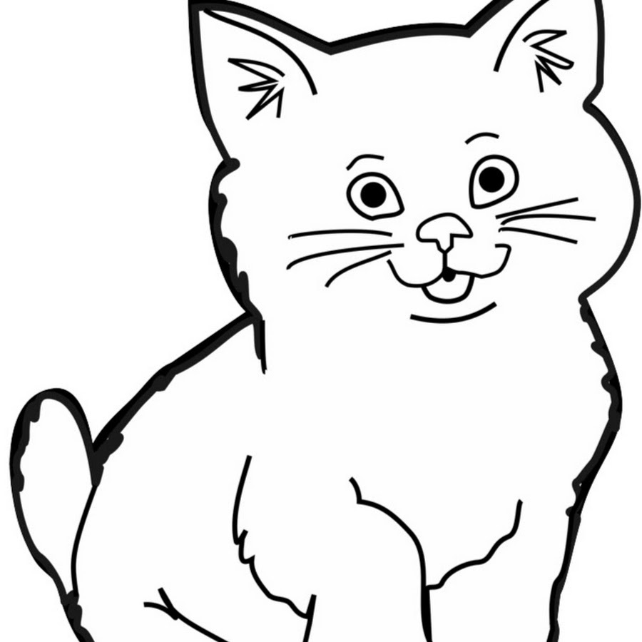 Cat kitten drawing tiger. Kittens clipart catblack