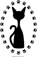 Free prints click to. Paw clipart paw print