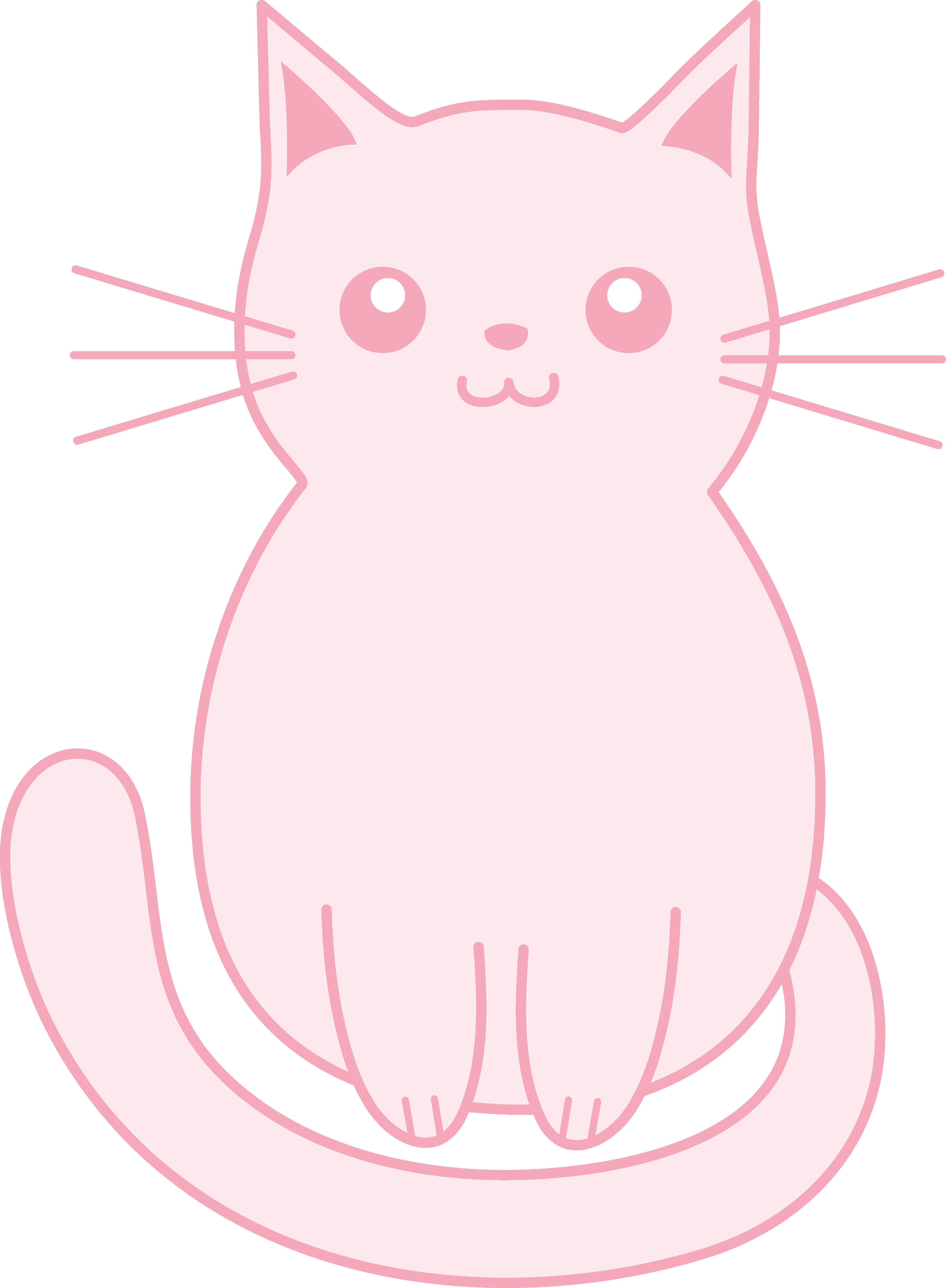 Cute clip art free. Kitten clipart pink cat