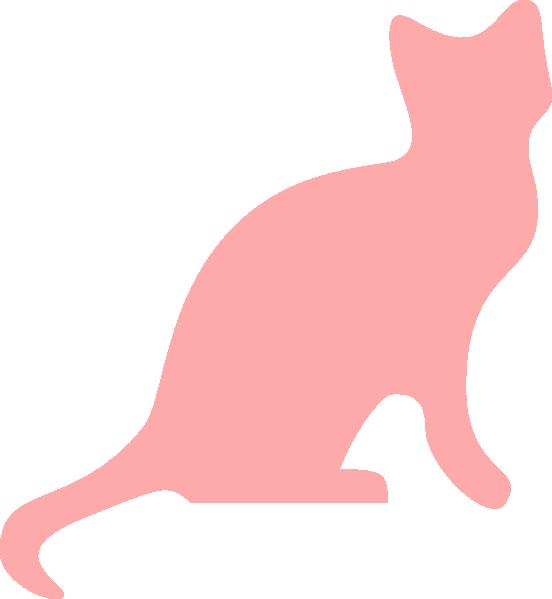 Silhouette clip art at. Kitten clipart pink cat