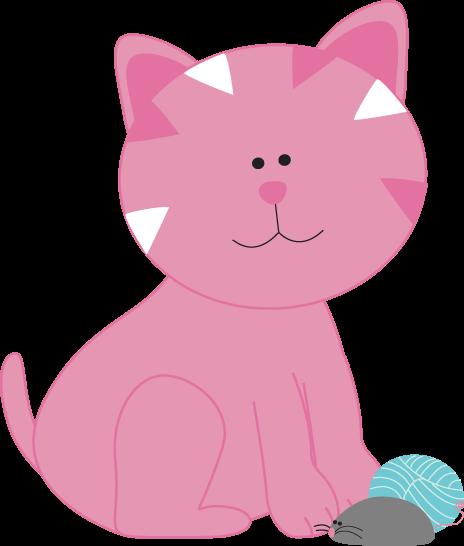 Kitten clipart pink cat. Cute mice clip art
