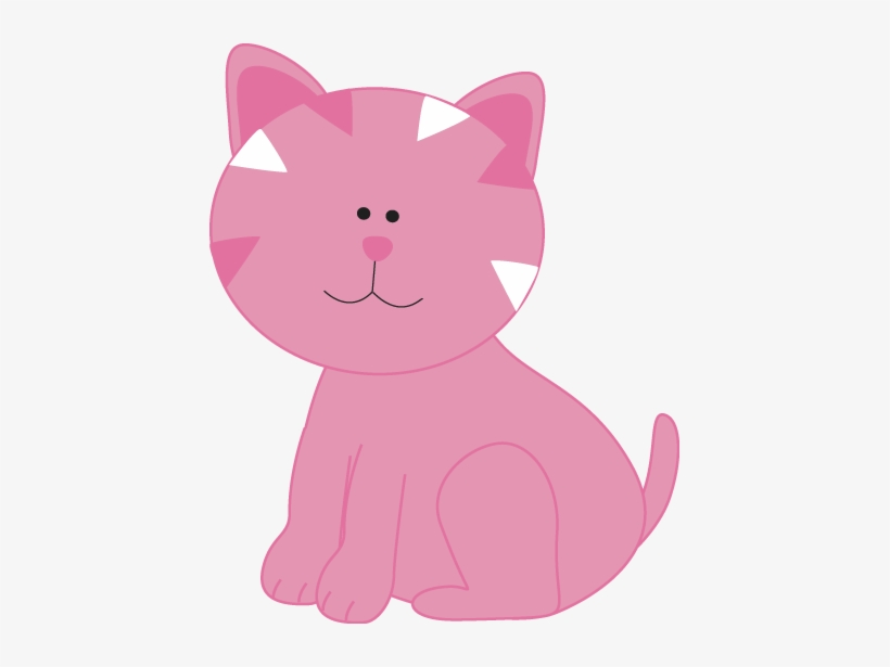 Kittens adorable png image. Kitten clipart pink cat