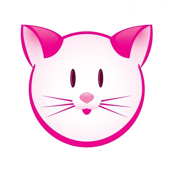 Kitten clipart pink cat. Clip art nose transprent