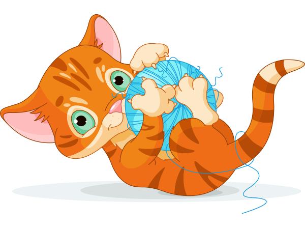 Cat facebook symbols animals. Kittens clipart playful