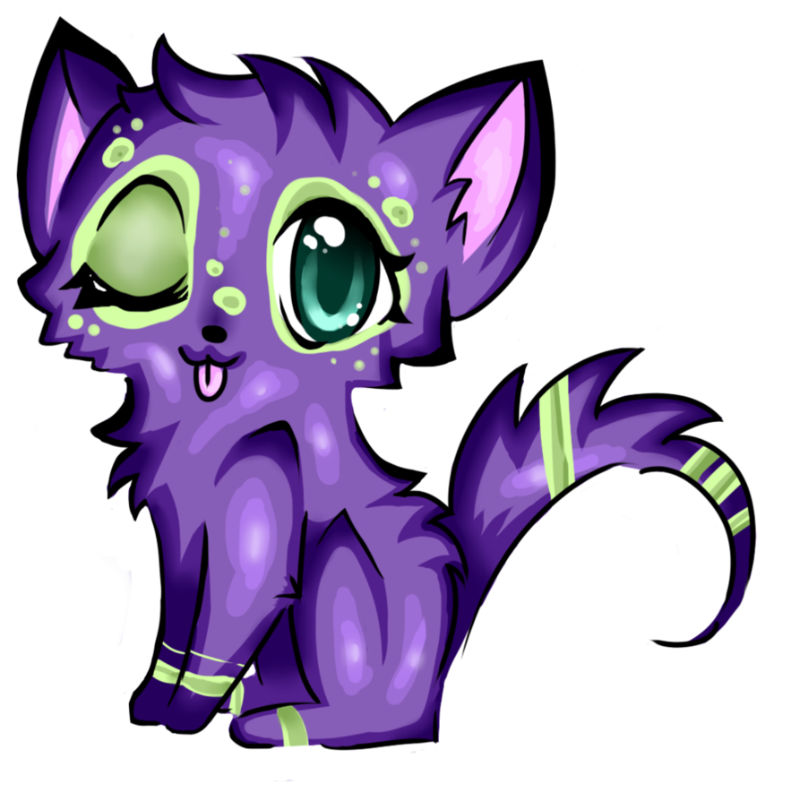 Purple clipart kitten. Adoptable by thewaningcrescent on