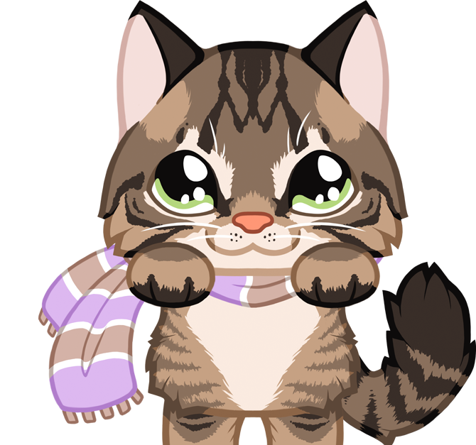Kitty cafe peachseas com. Kitten clipart purr