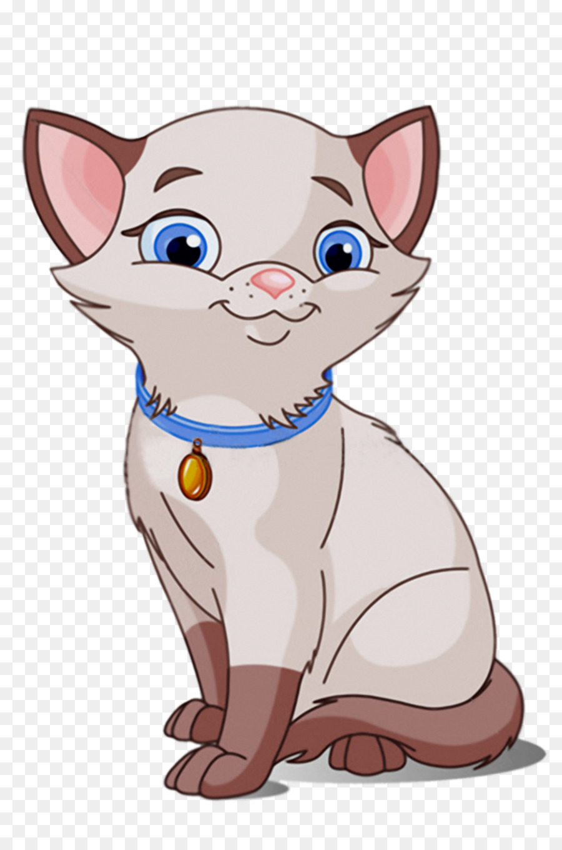 Siamese cat cuteness clip. Kitten clipart purr