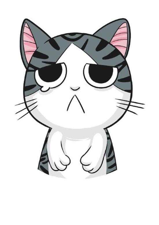 Kitten cat whiskers t. Kittens clipart sad