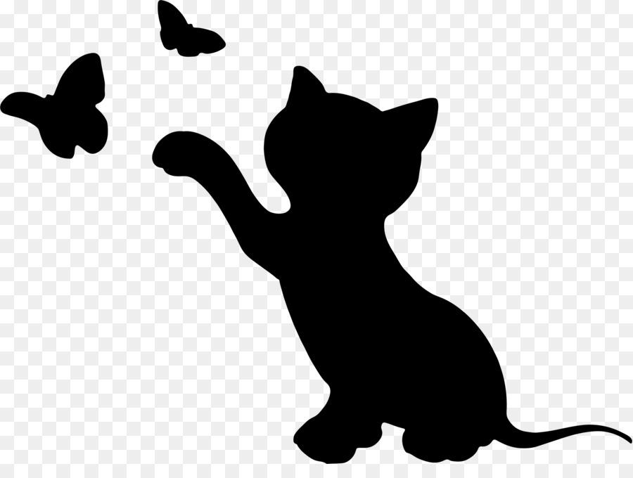 Kitten clipart silhouette. Cat puppy