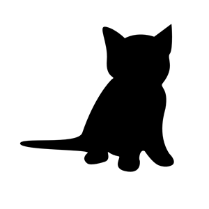 Kitten clipart silhouette. Cliparts of