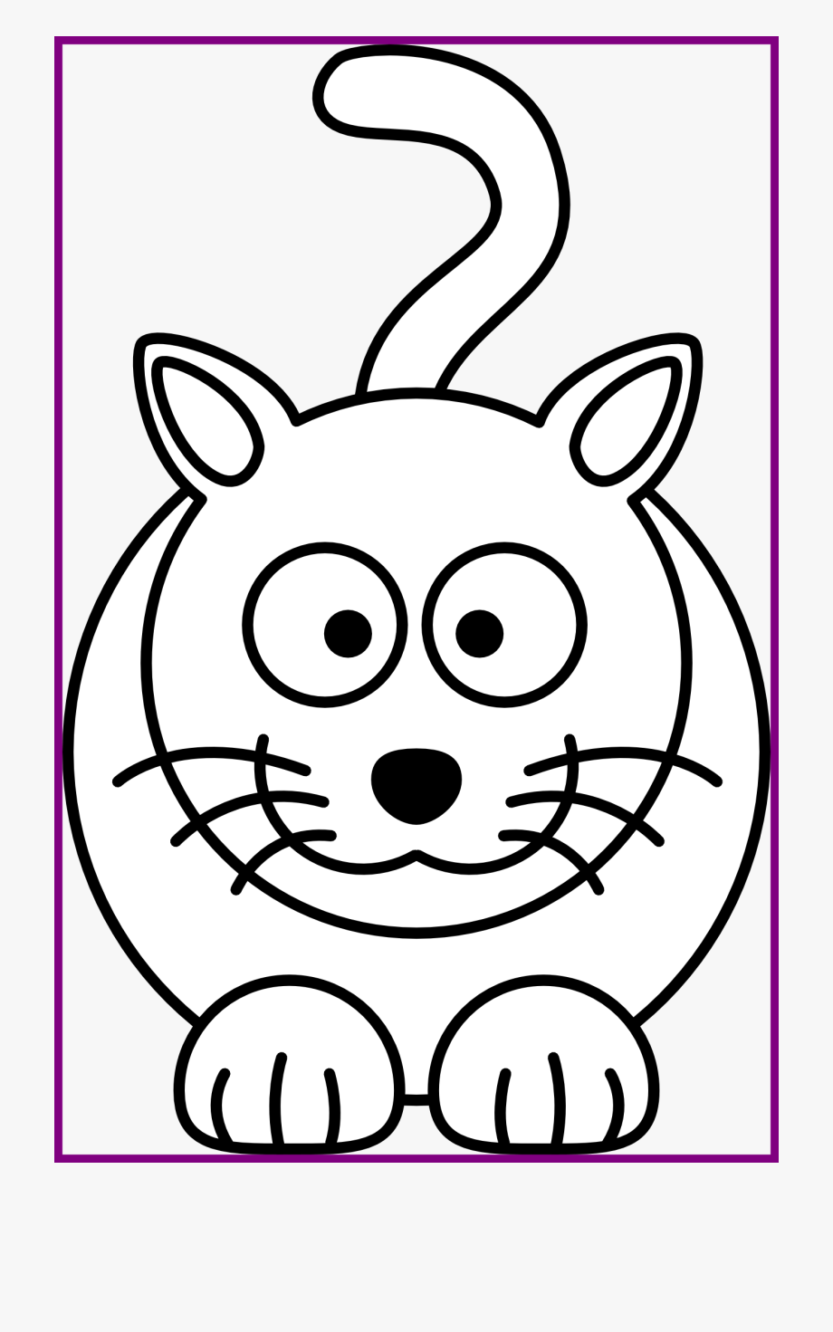 Best face black and. Kitten clipart simple cat