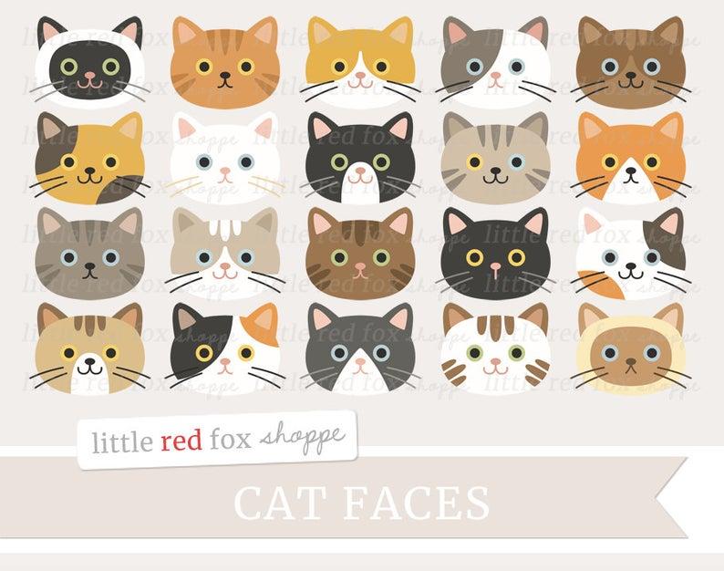 Kitty clipart pet cat. Face clip art kitten