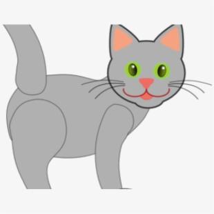 Kitten clipart striped cat. Kittens grey