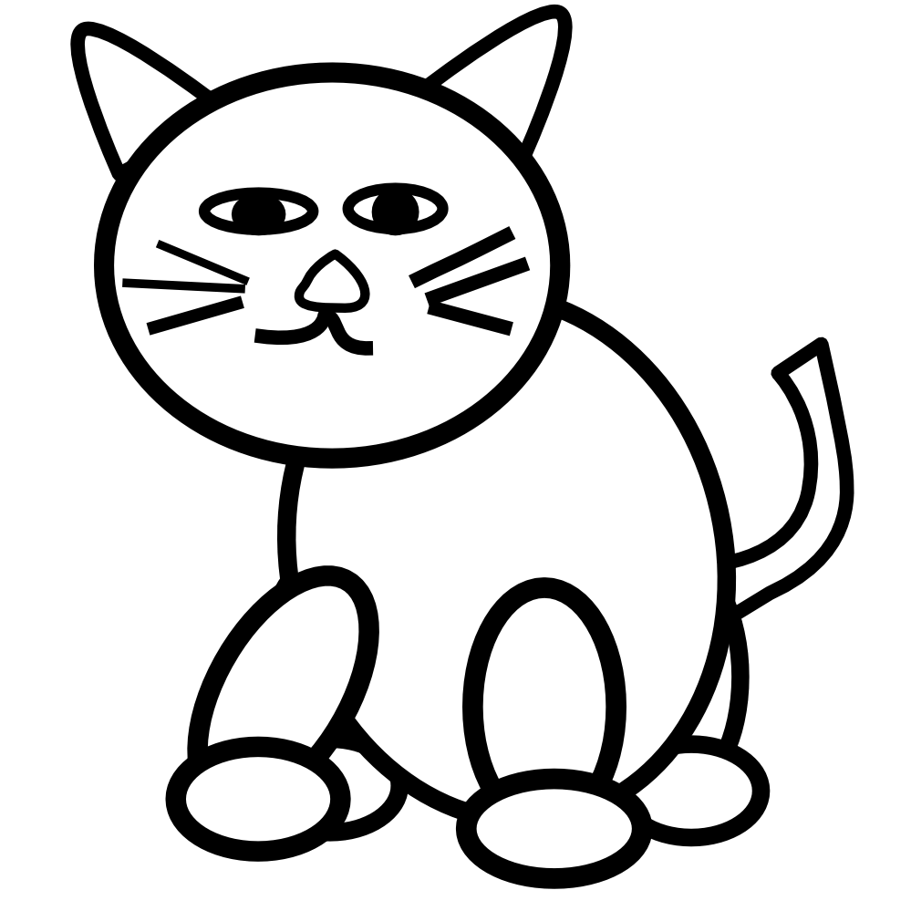 Two cats free download. Kitten clipart striped cat
