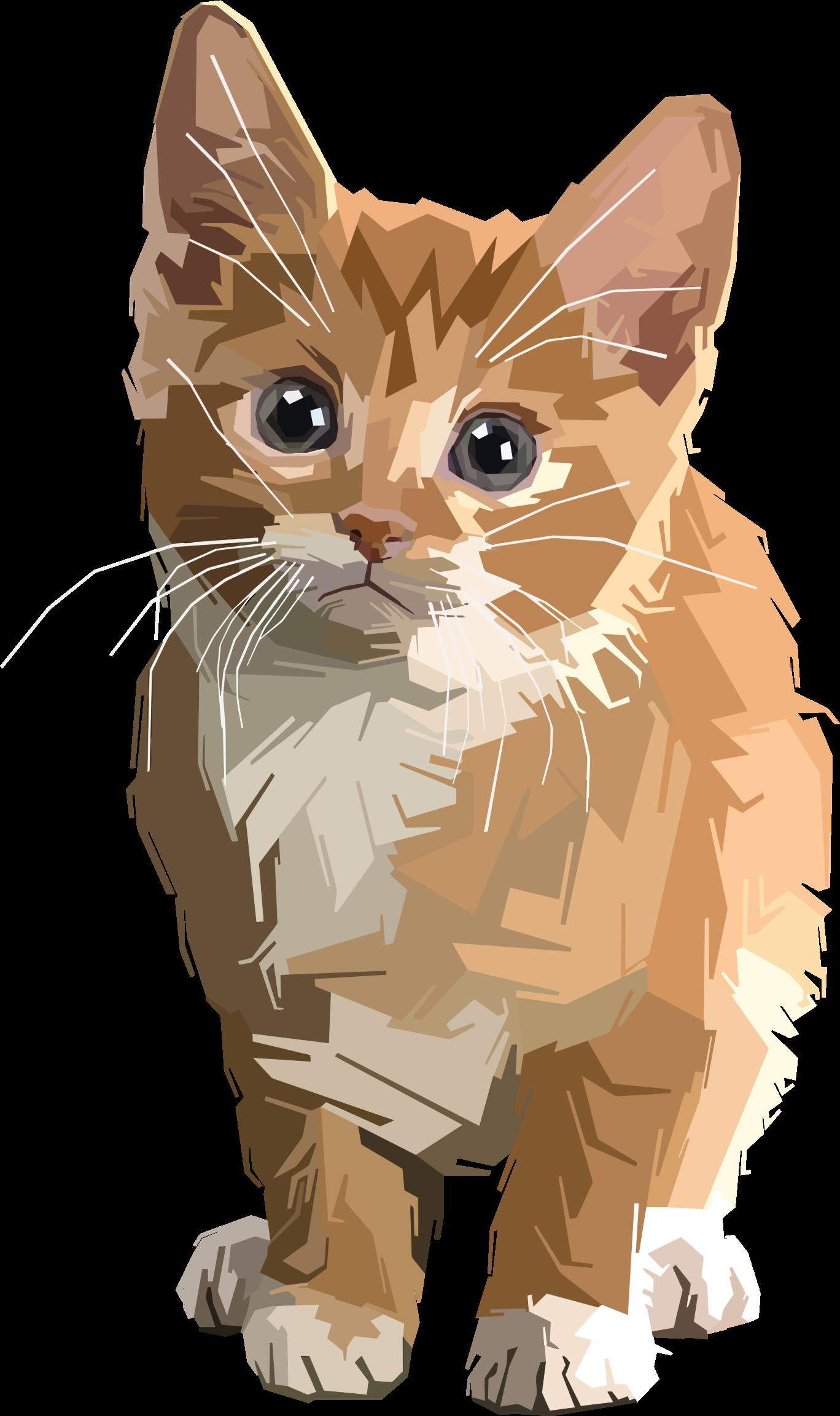 Kitty clipart tabby cat. Stylized geometric kitten big