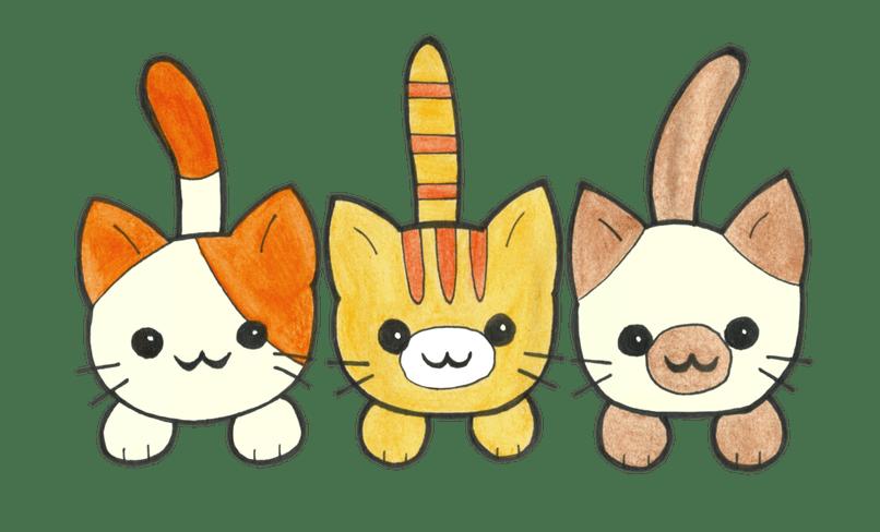 Cute cartoon images animaxwallpaper. Kittens clipart three