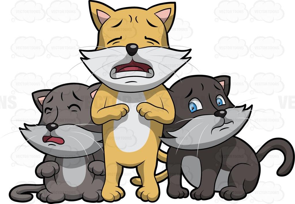 Free little kitten cliparts. Kittens clipart three
