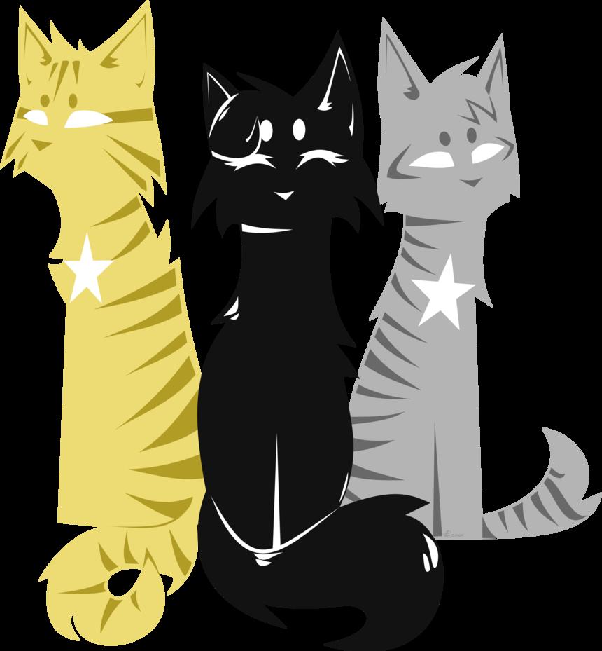 kitten clipart three cat