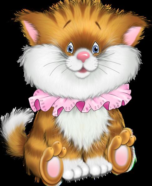 Kittens clipart tiger cat. Kitten cartoon free clip