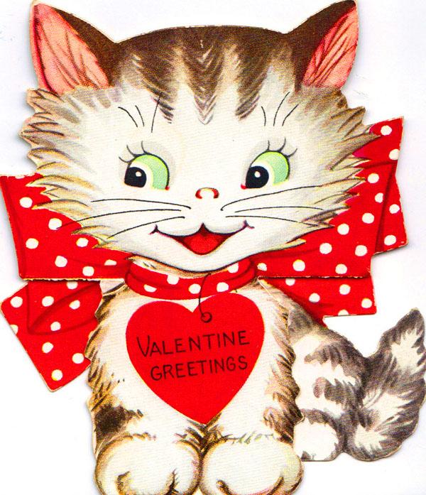 Valentine Card Design Clipart Valentine Kittens
