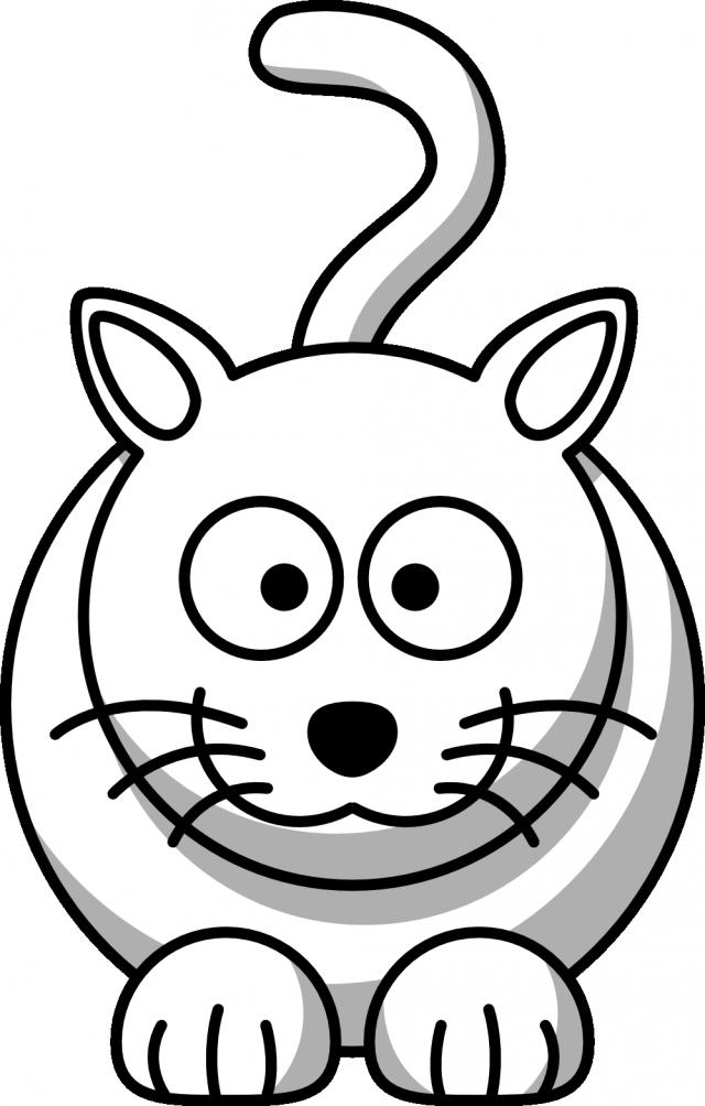 Kitten clipart vector. Free cartoon kitty pictures
