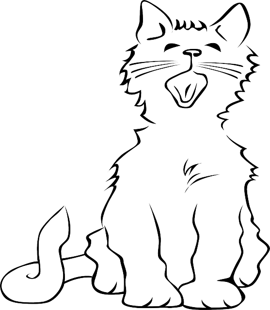 Reminds me of frost. Kitten clipart vector