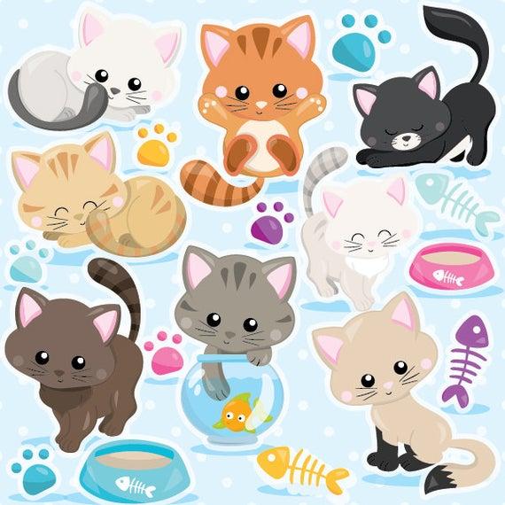Kitten clipart vector. Buy get cat commercial