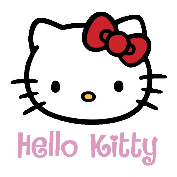 Hello kitty silhouette at. Kitten clipart vector
