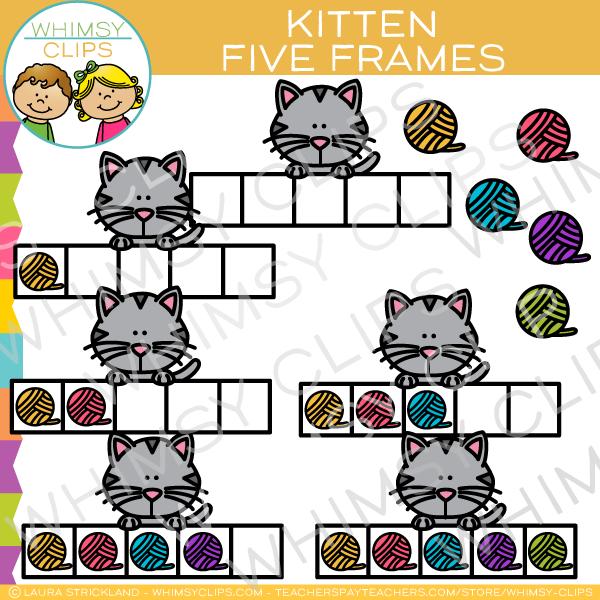 Kittens clipart 5 kitten. Five frames of clip