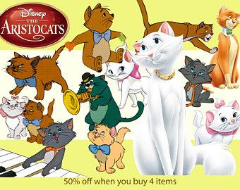 Kittens clipart aristocats. Etsy