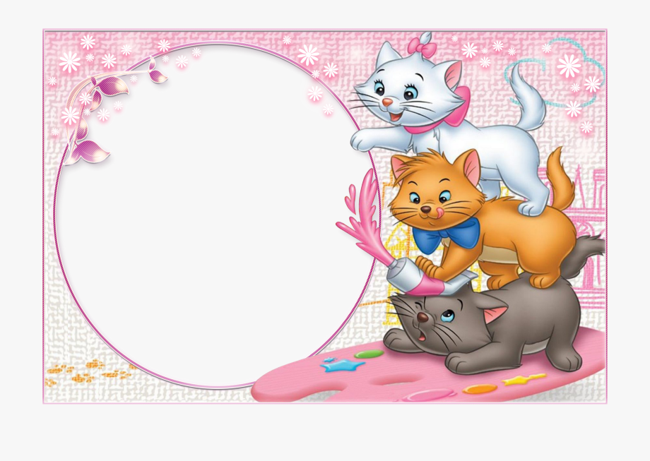 Kittens clipart border. Three cute transparent child