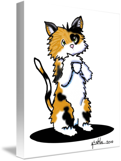 Cupid the kitten by. Kittens clipart calico