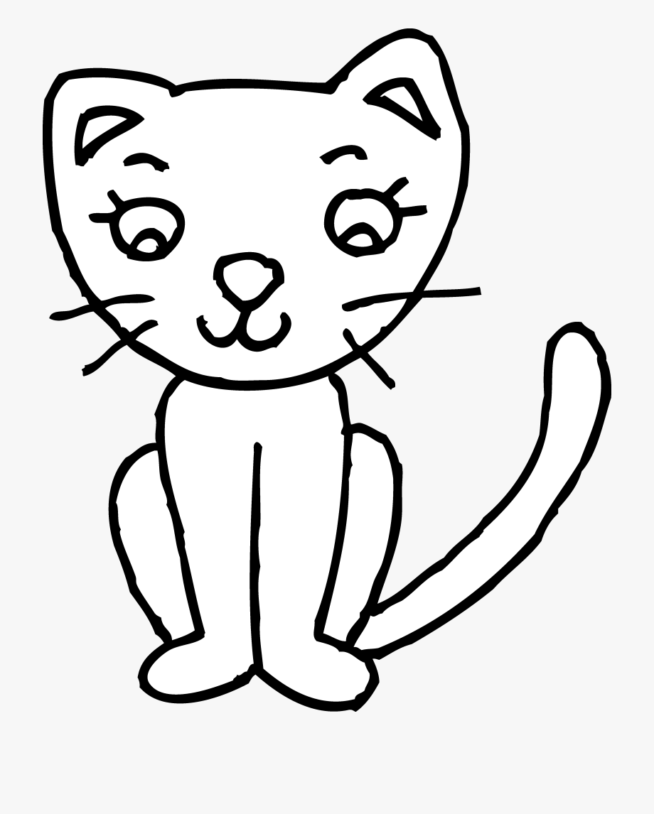 Kitten playing to color. Kittens clipart cat play