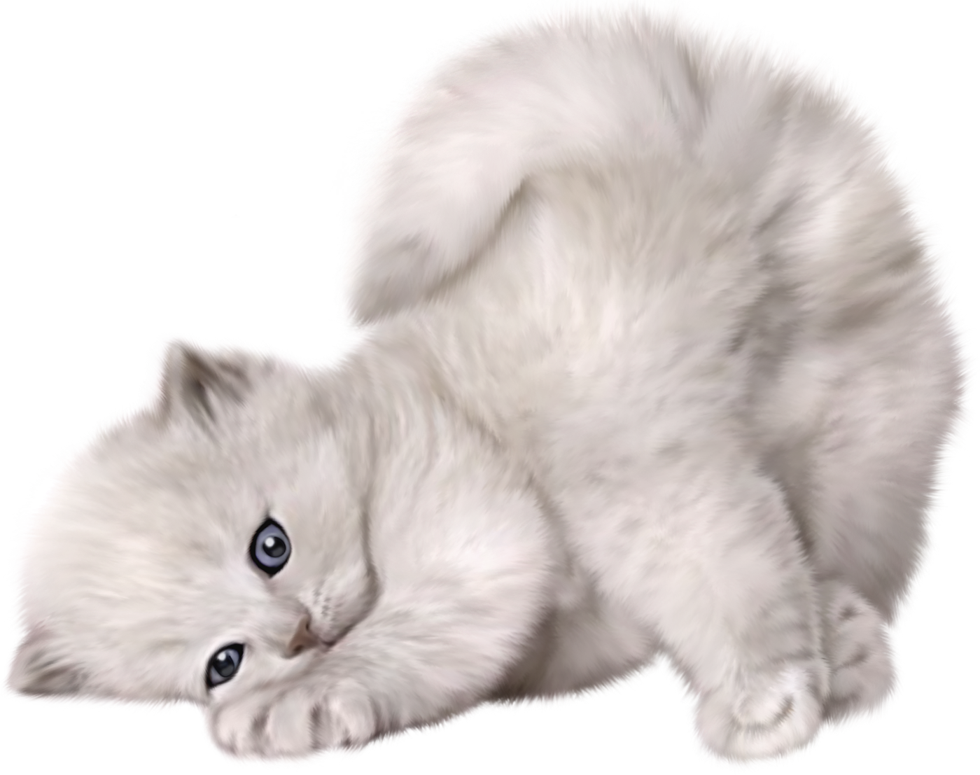 Cute images gallery for. Kittens clipart fluffy