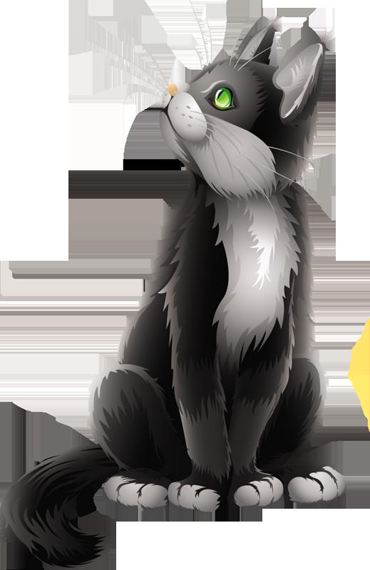 Kittens clipart gray cat. Cartoon black i love