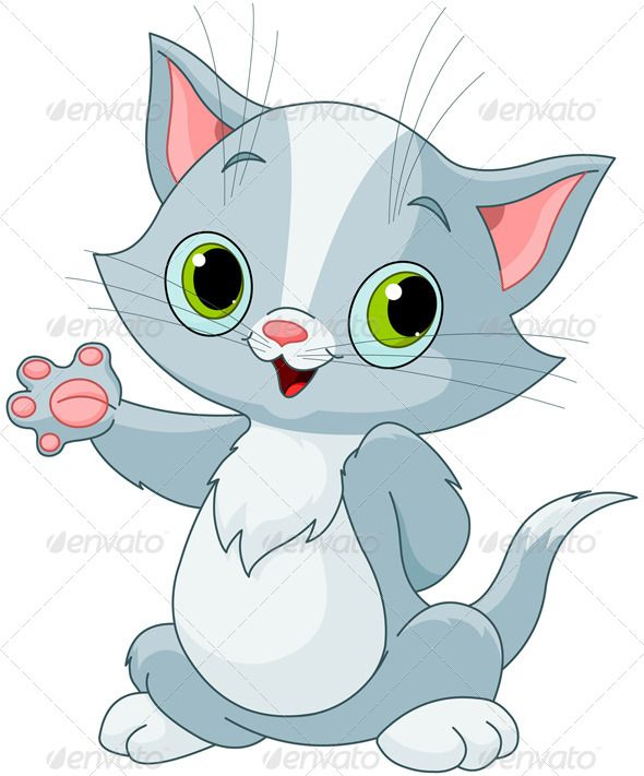 Showing fonts logos icons. Kittens clipart grey kitten