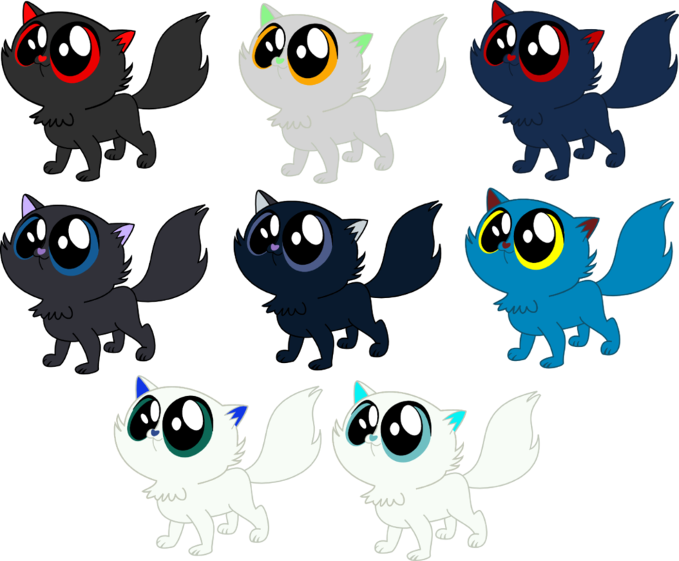 Kittens clipart row. Art give away of