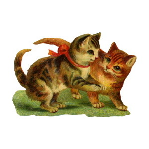 Kittens clipart two. Free cliparts download clip