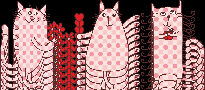 Valentines cat clip art. Kitty clipart valentine